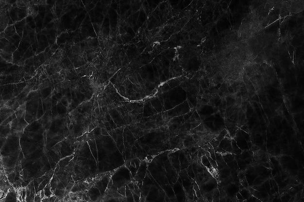 Fond de texture en marbre noir, texture abstraite en marbre (motifs naturels) Photo Premium