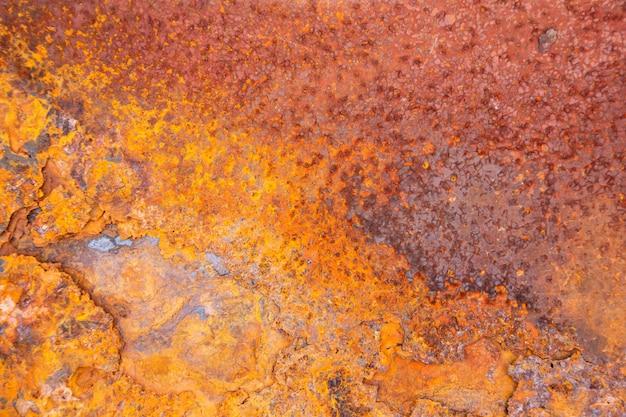 Fond de texture en métal rouillé Photo Premium