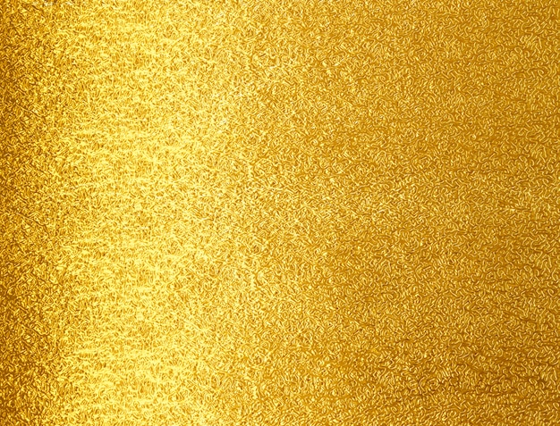 Fond de texture métallique feuille d'or brillant jaune Photo Premium