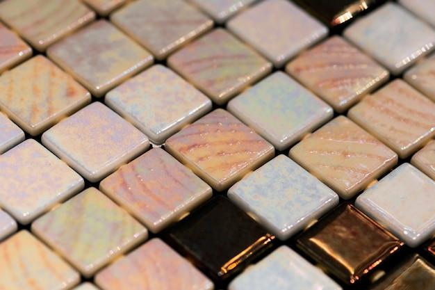 Fond texturé de mosaïque colorée décorative Photo gratuit