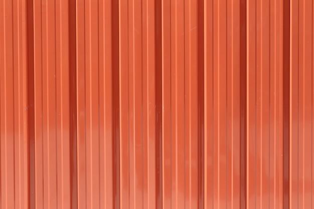 Fond de texture de mur de zinc orange. Photo Premium