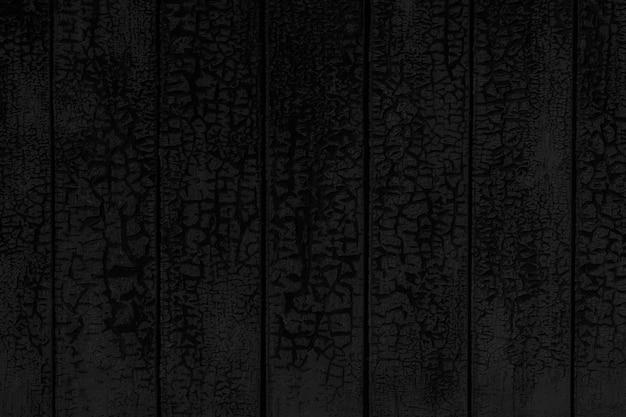 Fond Texturé Noir De Mur En Bois Peint Fissuré Photo Premium