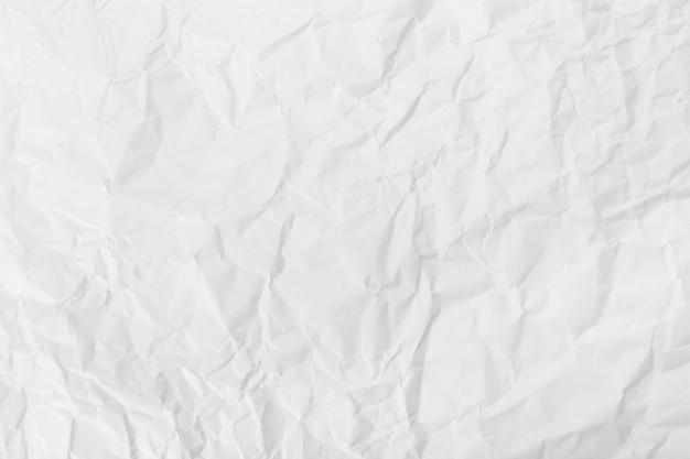 Fond De Texture De Papier Froissé Blanc. Photo Premium