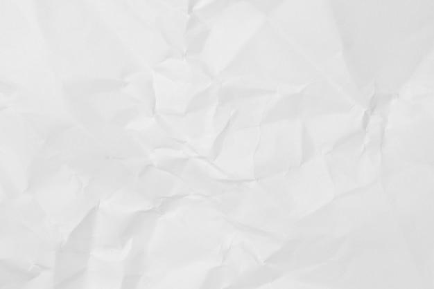 Fond De Texture De Papier Froissé Blanc Photo Premium
