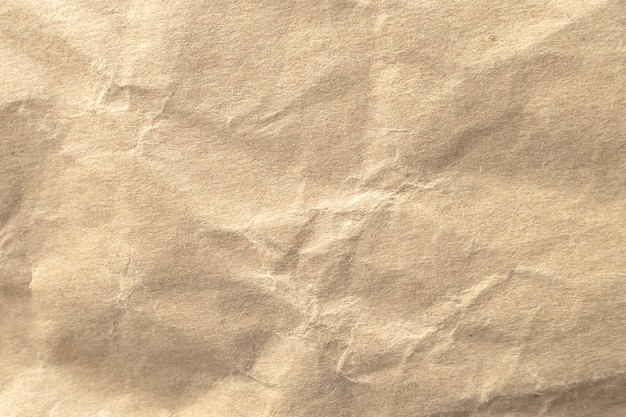 Fond De Texture De Papier Froissé Brun. Photo Premium