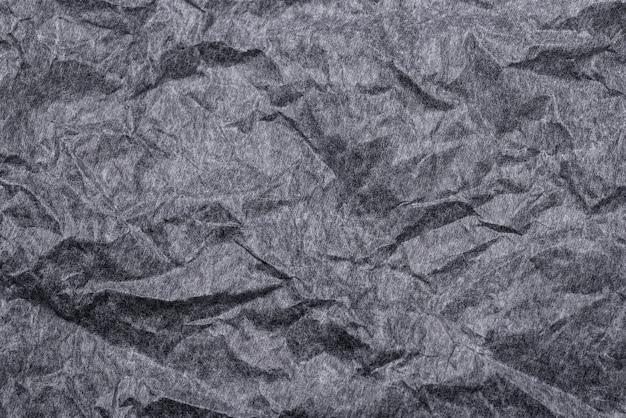 Fond Texturé De Papier Froissé Noir Photo Premium