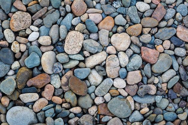 Fond de texture de pierres de galets Photo Premium