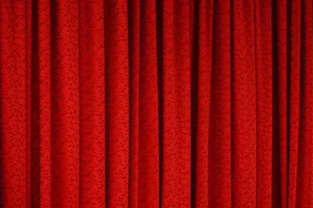 Fond de texture de rideau rouge Photo Premium
