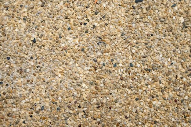 Fond de texture de sol de galets bruns Photo Premium