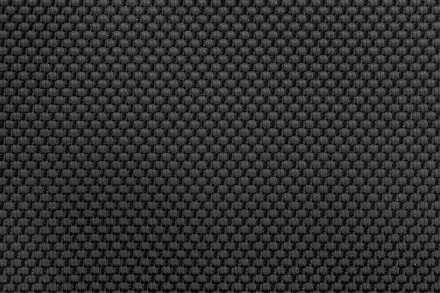 Fond de texture de tissu en nylon noir pour la conception. Photo Premium