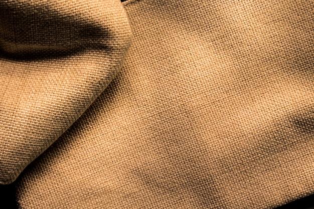 Fond de texture de toile de jute. surface de vieux tissu marron. Photo Premium