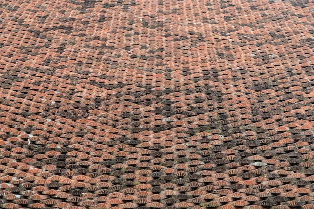 Fond De Texture De Tuiles De Toit Aspect Vieilli Photo Premium