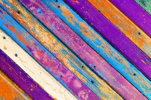 Fond Texturé De Vieux Bois De Planches De Grange Colorées Avec Espace Copie Pour Le Texte Photo Premium