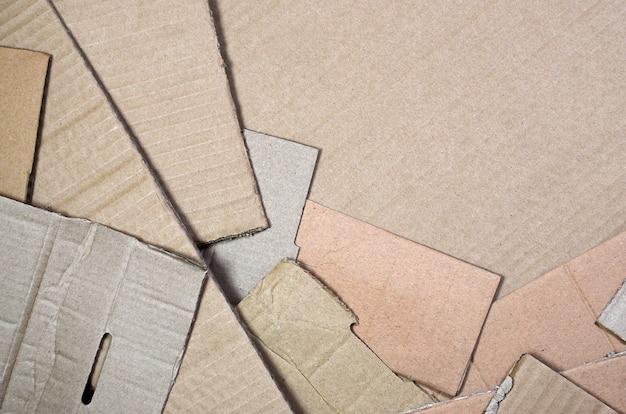 Fond de textures de papier empilés prêts à être recyclés. Photo Premium