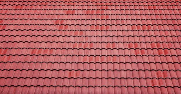 Fond De Toit De Tuiles Rouges Photo gratuit