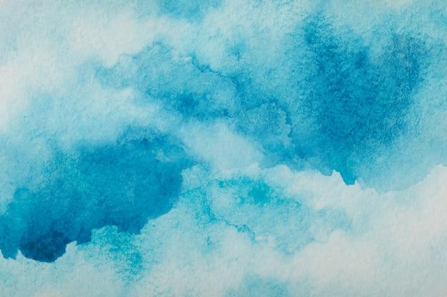Fond De Trait Aquarelle Splash Bleu. Grâce Au Dessin Photo Premium