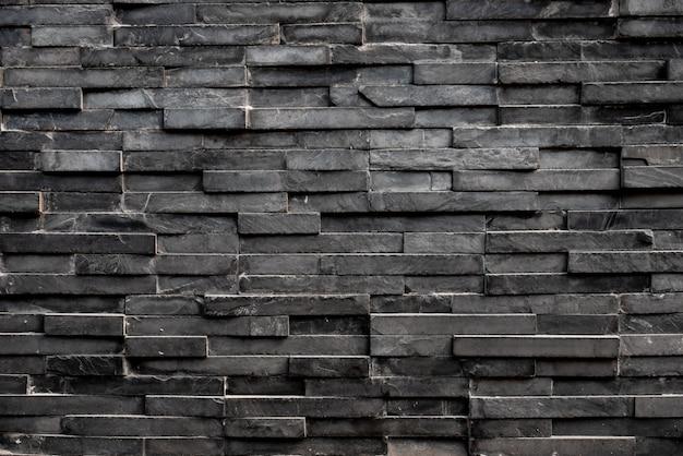 Fond de tuile carrée rectangle noir Photo Premium