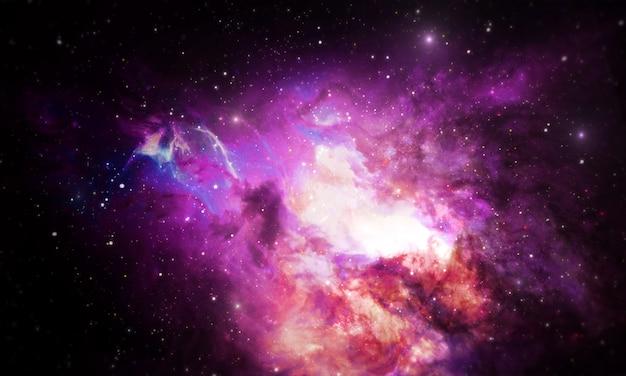 Fond de l'univers de la nébuleuse Photo Premium