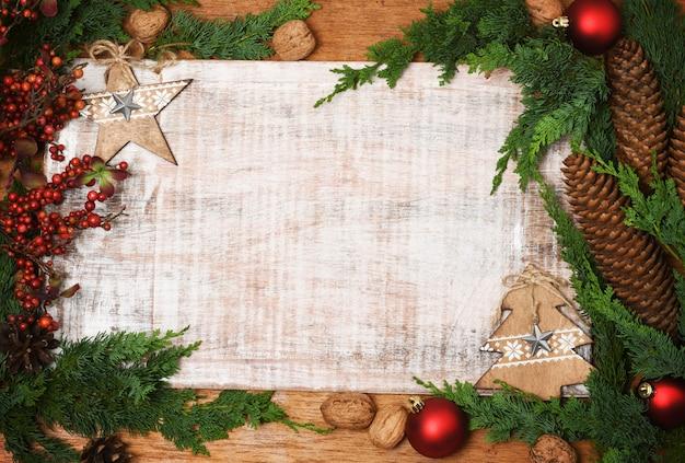 Fond De Vacances De Noël Photo Premium