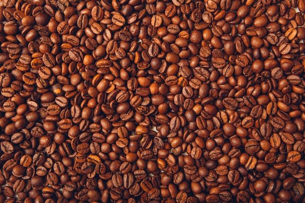 Fond De Vue De Dessus De Grains De Café Photo gratuit