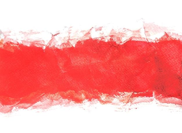 Fonds d'aquarelle rouge, peinture à la main Photo Premium