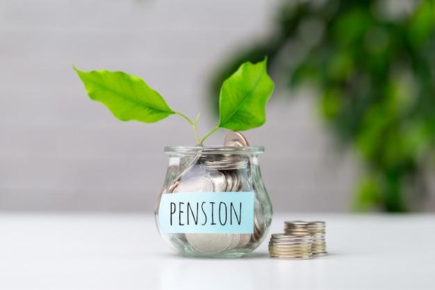 Fonds De Pension Et Composition Du Concept D'entreprise De Retraite Photo Premium