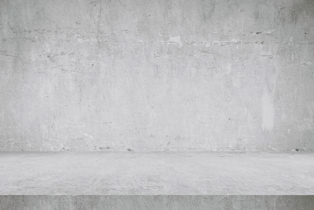 Fonds de table et fonds de mur en ciment, produits d'affichage de tablettes. Photo Premium