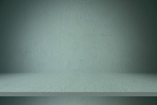 Fonds de table et de mur d'étagère en ciment, pour produits d'affichage Photo Premium