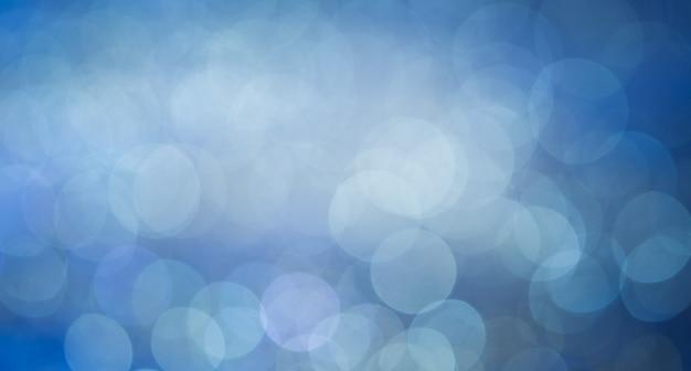 Format De Panorama Page Large Fan Bleu Bokeh Abstrait Fond Clair Fan. Photo Premium