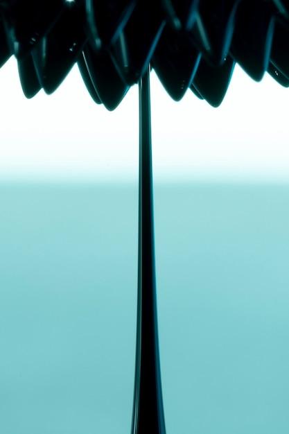 Forme de fleur abstraite en métal ferromagnétique Photo gratuit