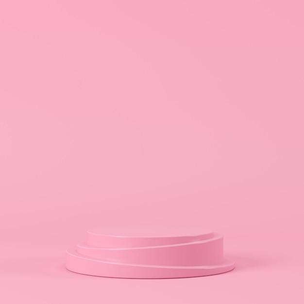 Forme géométrique abstraite de couleur pastel, présentoir de podium pour le produit. concept minimal. fond de rendu 3d. Photo Premium