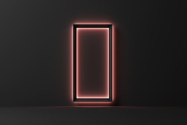 Forme Géométrique Abstraite Modèle De Couleur Pastel Fond De Mur De Style Moderne Minimal Avec éclairage Grandir Le Rendu 3d Photo Premium