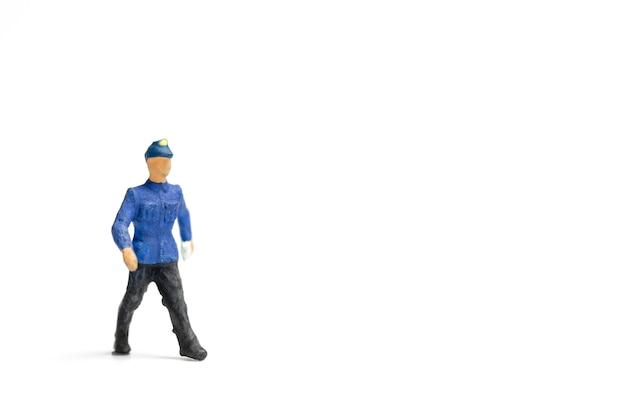Former le personnel isolé sur fond blanc Photo Premium