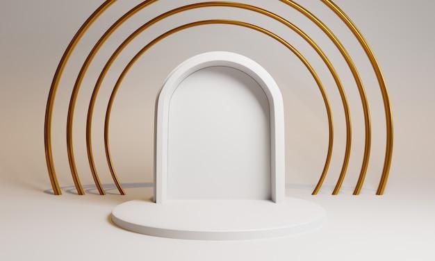 Formes 3d Avec Porte Et Cercles Pour La Présentation Du Produit Photo Premium