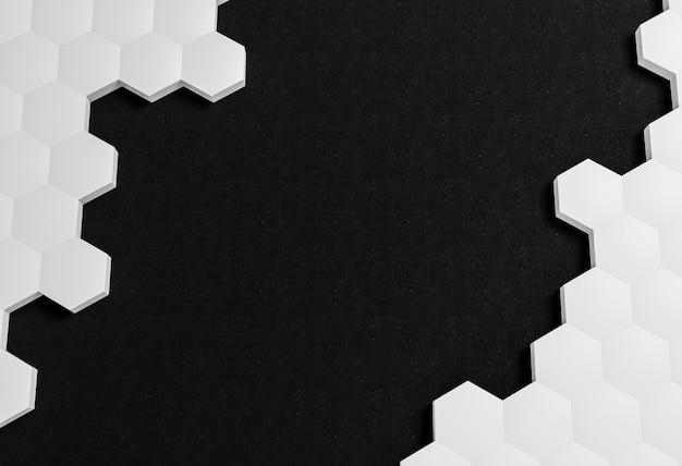 Formes Blanches Sur Fond Noir Photo gratuit