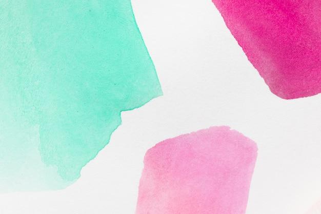 Formes Géométriques Abstraites De Taches Peintes à La Main Photo gratuit