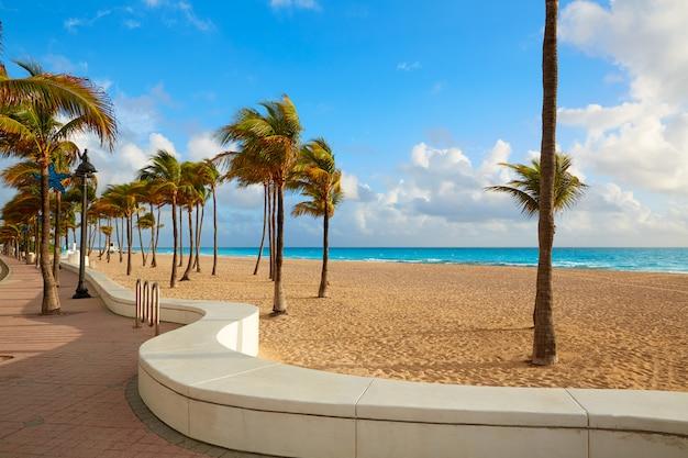 Fort lauderdale beach sunrise florida us Photo Premium
