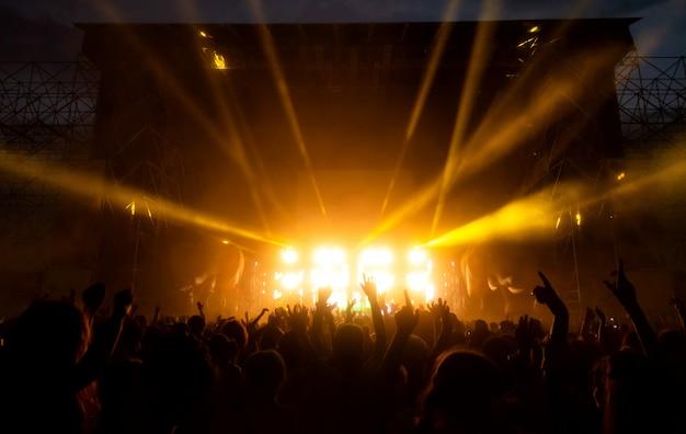 Foule De Fans Au Concert Photo Premium