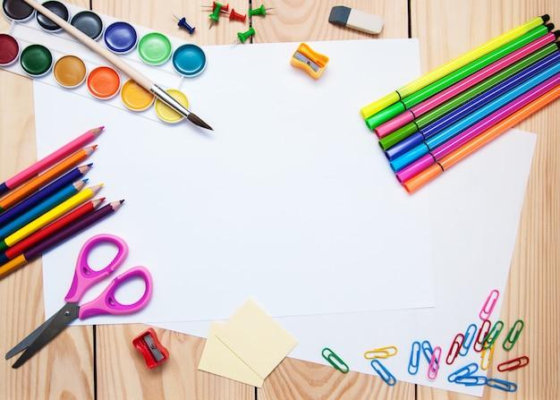 Fournitures scolaires Photo Premium