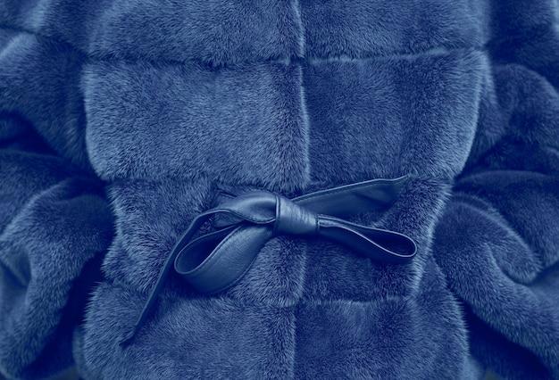 Fragment gros plan d'un manteau de fourrure coloré brillant Photo Premium