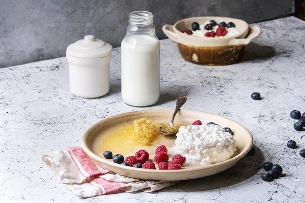 Fromage cottage fait maison Photo Premium