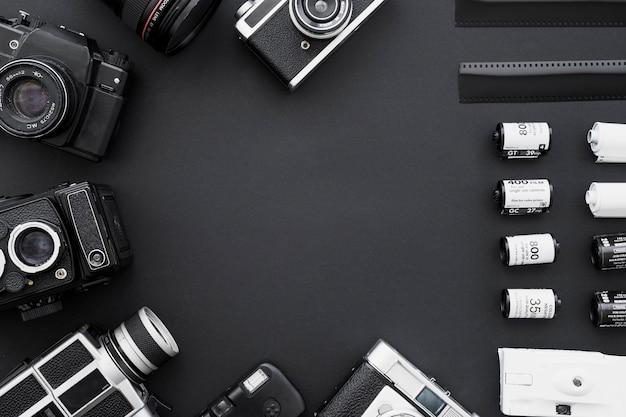 Frontière de film et de caméras vintage Photo gratuit