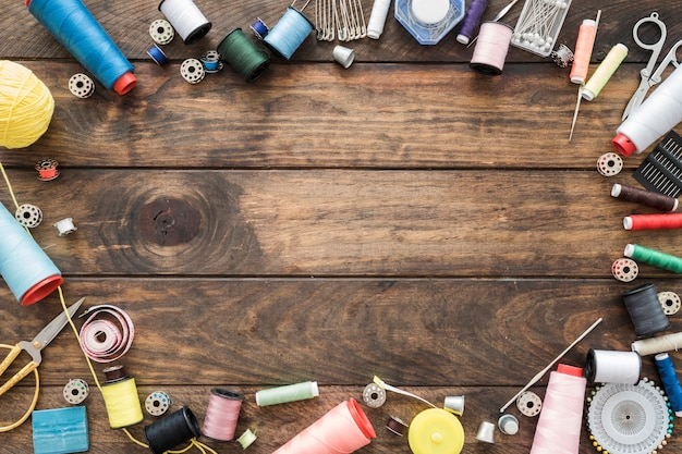 Frontière de fournitures de couture Photo gratuit