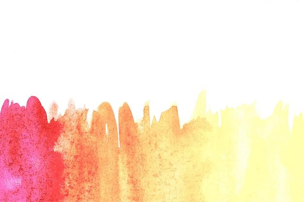 Frontière de peinture à la main art abstrait aquarelle sur fond blanc. fond d'aquarelle Photo Premium