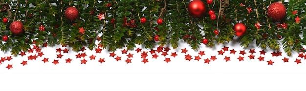 Frontière De Vacances De Noël Photo Premium