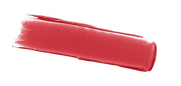 Frottis de rouge à lèvres isolé sur blanc Photo Premium