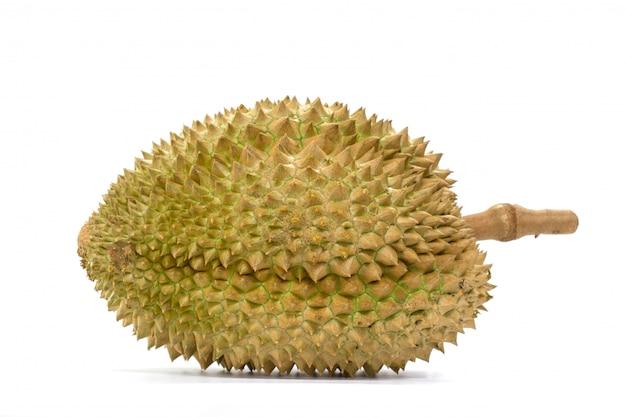 Fruit de thong durian sur fond blanc Photo Premium