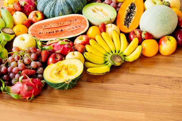 Fruits assortis et mélangés Photo Premium