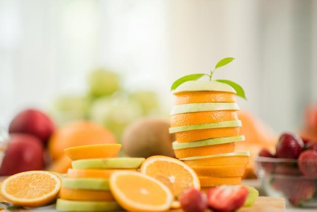 Fruits divers, concept de soins de santé et de santé Photo gratuit