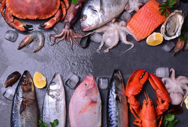Les Fruits De Mer Les Plus Frais Pour Tous Les Goûts Photo Premium